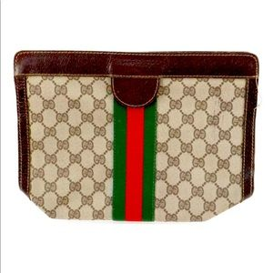 Vintage Authentic Gucci Shelly Line GG Canvas Bag